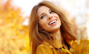 woman with beautiful bright smile