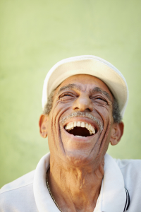 elderly patient smiling