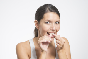 woman worried about tooth decay